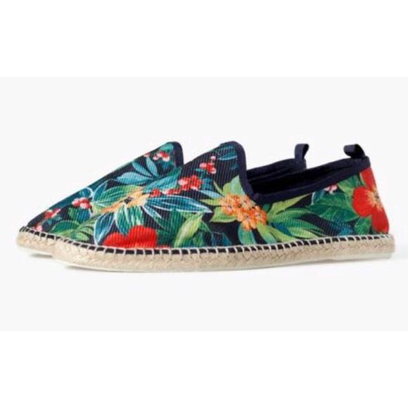 ddcbfbab Zara Shoes   Man Floral Espadrilles Rubber Bottom 942   Poshmark